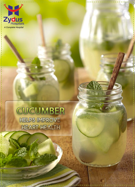 #Cucumbers have immune boosting, anti-inflammatory effects that are beneficial for fighting cardiovascular disease. Cucumbers also provide important minerals like potassium and magnesium that are extremely beneficial for healthier blood pressure levels. Magnesium rich foods are also beneficial for blood pressure in addition to general nerve functioning, fluid balance, #heart beat regulation, better blood sugar levels and higher energy expenditure.  #HeartHealth #ZydusCares #ZydusHospitals #Ahmedabad