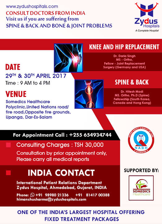 Visit us if you are suffering from Spine, Backbone or Joint problems...  #VisitUs #ZydusCares #ZydusHospitals #Ahmedabad