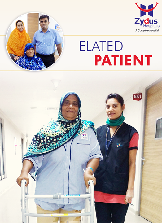 Mrs. Zuhura from Dar-es-Salaam, Tanzania underwent a Bilateral Total Knee Replacement in single sitting. She was in great pain when she arrived, unable to stand or walk and now as she leaves Ahmedabad which was her home for about 20 days, she says