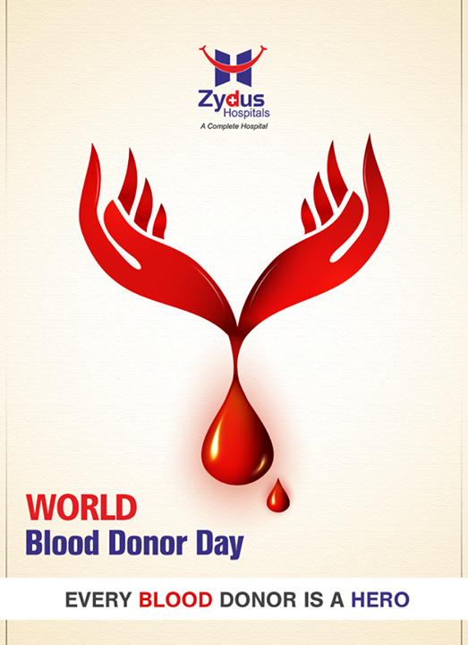 Blood Donation will cost you nothing but it will save a life!   #WorldBloodDonorDay #HealthCare #ZydusCares #ZydusHospitals