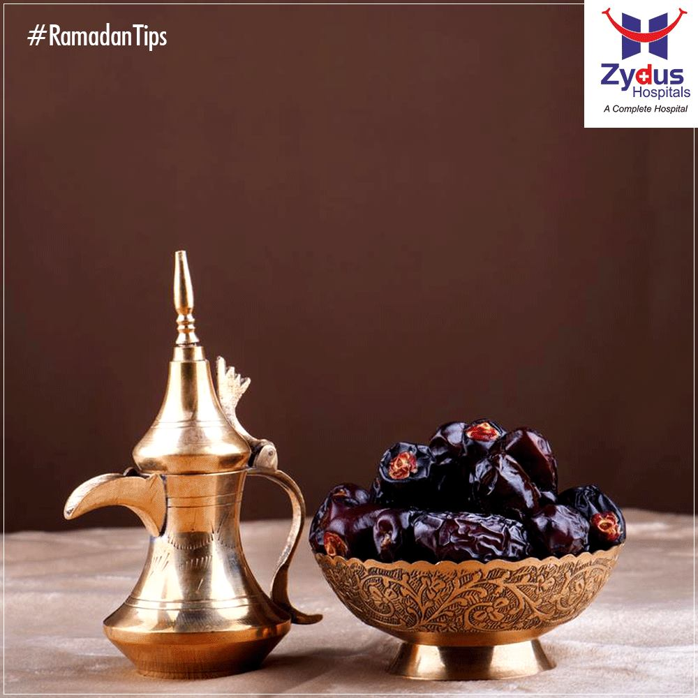 People who suffer from headache during the fast should start their Iftar with 2-3 dates.   #RamadanTips #HealthCare #ZydusCares #ZydusHospitals
