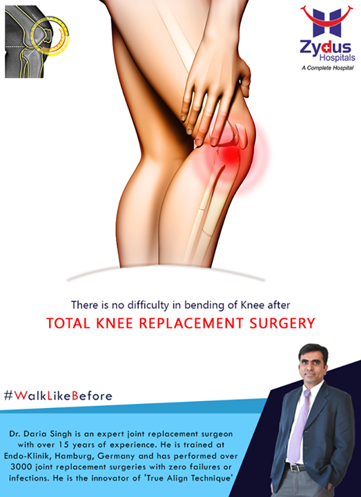 Bend your knees like before after #TotalKneeReplacement at Zydus Hospitals !  For more info: http://truealignkneesurgery.com/ Our Chat Window - https://goo.gl/oSyuNK  #WalkLikeBefore #TrueAlign #KneeReplacements #ZydusHospitals #Ahmedabad #Gujarat
