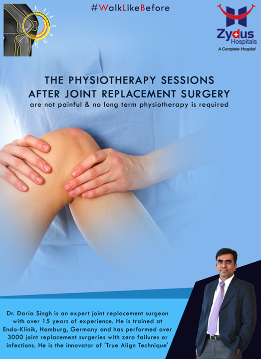 Say hello to #painfree physiotherapy sessions after the surgery!  For more info: http://truealignkneesurgery.com/ Our Chat Window - https://goo.gl/oSyuNK  #WalkLikeBefore #TrueAlign #KneeReplacements #ZydusHospitals #Ahmedabad #Gujarat