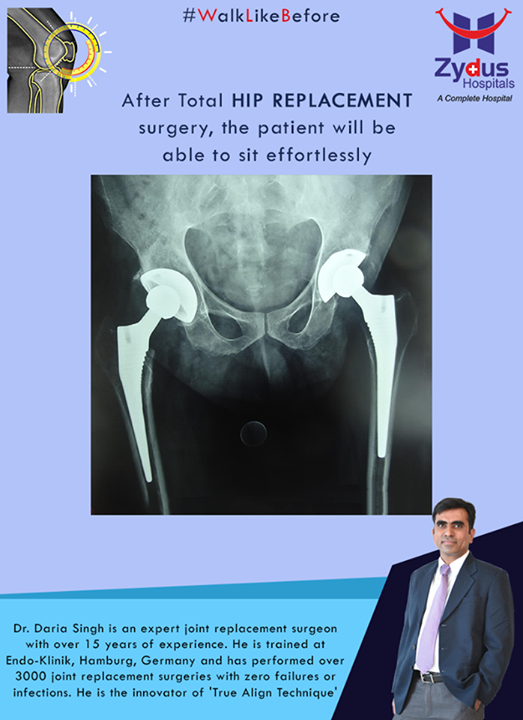 After Total Hip Replacement surgery, the patient will be able to sit effortlessly!  For more info: http://truealignkneesurgery.com/ Our Chat Window - https://goo.gl/oSyuNK  #WalkLikeBefore #HipReplacements #ZydusHospitals #Ahmedabad #Gujarat