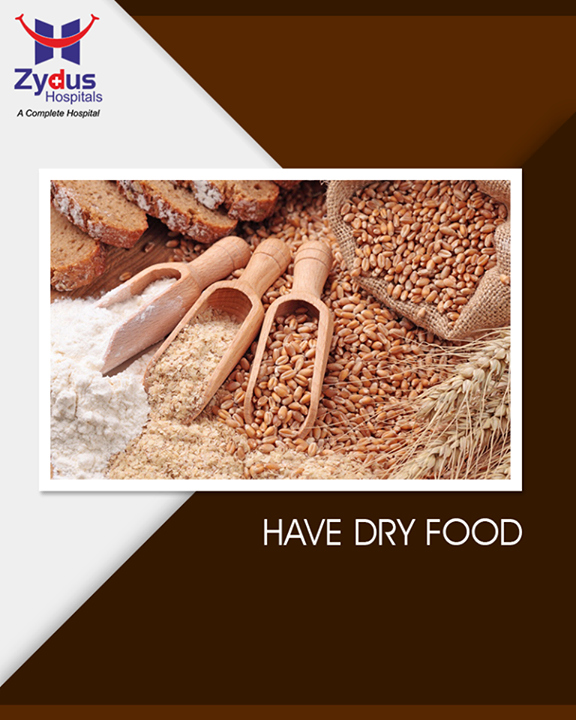 It is better not to opt for the watery food during the monsoons such as juices, lassi and other watery fruits available outside. Instead go for the dry foods, as consumption of too much watery food during monsoon can give rise to swelling in your body.  #Monsoon #StayHealthy #ZydusCare #ZydusHospitals #Ahmedabad #Gujarat