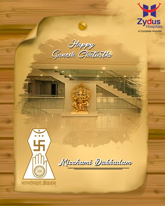 Festive wishes to all.  #FestiveWishes #HappyGaneshChaturthi #GaneshChaturthi #IndianFestival #Celebration #MicchamiDukkdam #Samvatsari #Forgiveness #Paryushan #ZydusHospitals #StayHealthy #Ahmedabad