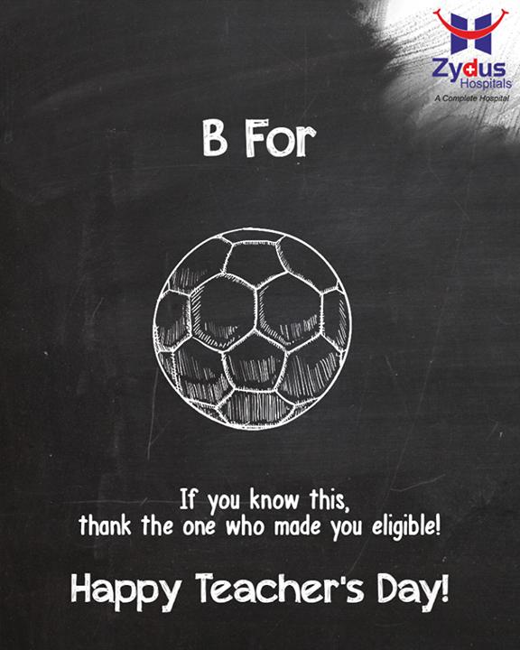 Thank you for feeding the world with knowledge!  #HappyTeachersDay #TeachersDay #ZydusHospitals #Ahmedabad