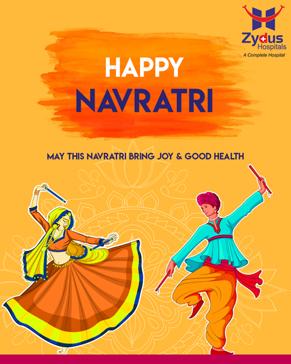 Let's celebrate the festival with immense zeal and devotion for #nine days.   #HappyNavratri #Navratri #ZydusHospitals #Ahmedabad #GoodHealth