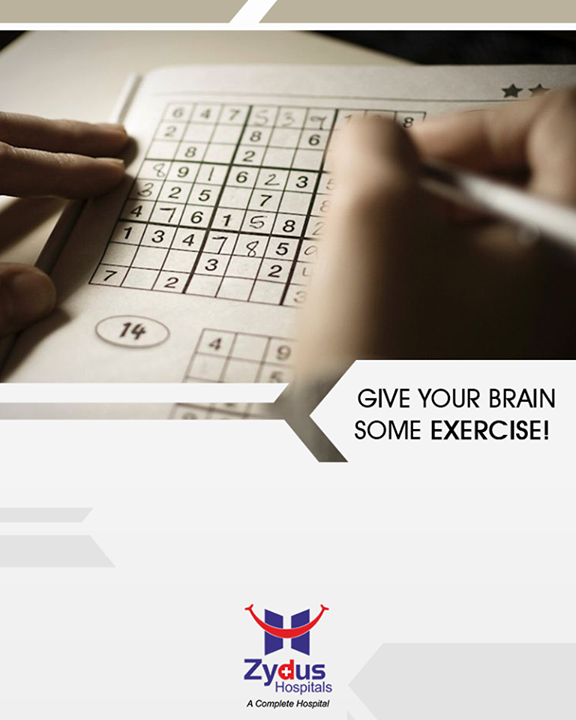 Are you aware? Your brain needs some exercise too. Practice regular brain exercises like Sudoku, word games, puzzles, learn a new instrument to help improve memory and thinking skills.  #BrainExercises #StayHealthy #ZydusHospitals #Ahmedabad #GoodHealth