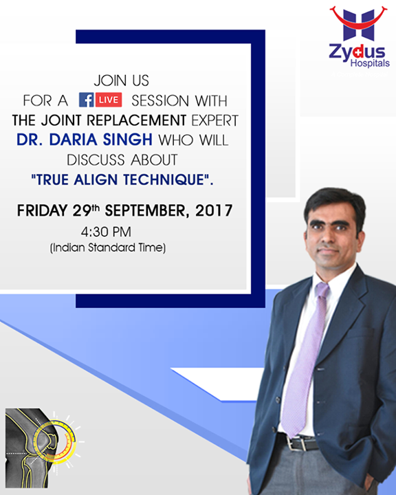 Join us for a Facebook Live session with the joint replacement expert Dr. Daria Singh who will discuss about