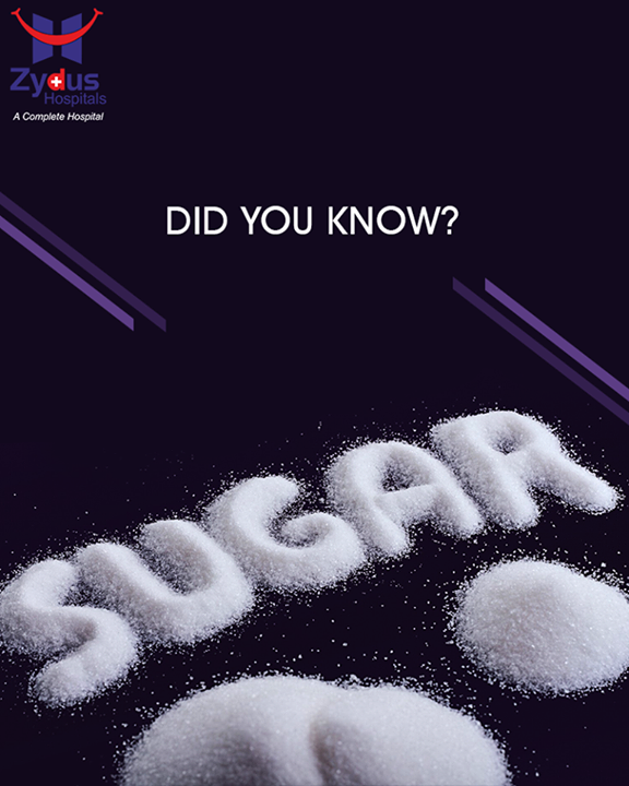 Apart from adding empty calories to your diet, the sugar present in the processed foods, not only leads to weight problems, it can cause energy spikes which have been linked to diabetes and depression.  #DidYouKnow #HealthTips #ZydusHospitals #StayHealthy #Ahmedabad