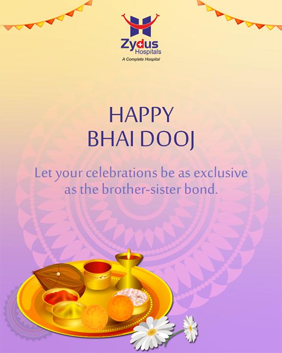 Let your celebrations be as exclusive as the bond.   #BhaiDooj #FestiveWishes #Diwali #IndianFestivals #DiwaliisHere #ZydusHospitals #StayHealthy #Ahmedabad
