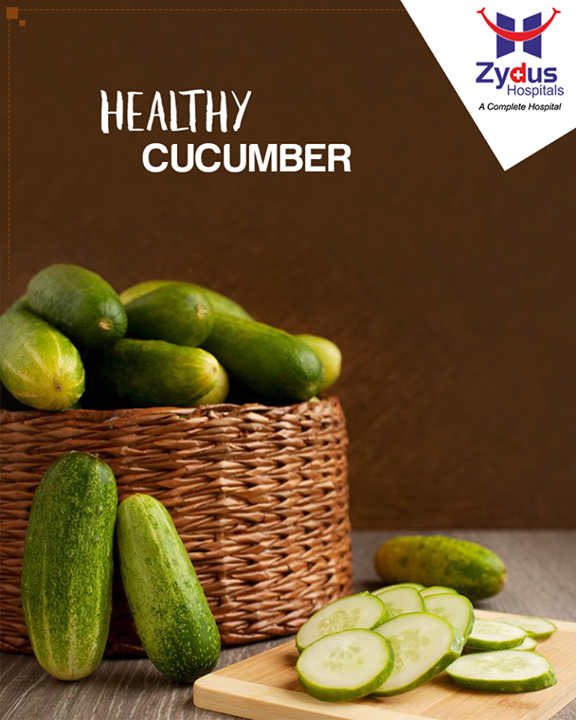 Cucumbers are very rich in B vitamins which help regulate the functioning of adrenal glands and counters the harmful effects that stress can have on your body.  #HealthyFood #HealthyYou  #ZydusHospitals #StayHealthy #Ahmedabad