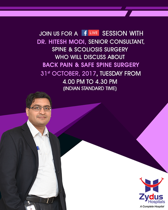 :: Join Us ::  #JoinUs #FacebookLive #ZydusHospitals #StayHealthy #Ahmedabad