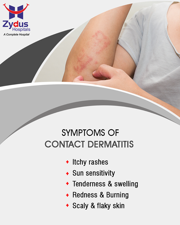 Contact dermatitis is an itchy rash that occurs when skin comes in contact with irritable substances. It leads to a skin allergy as the protective skin layer gets damaged. Though not contagious, this rash can be irritating.  #ZydusHospitals #ZydusCare #StayHealthy #Ahmedabad