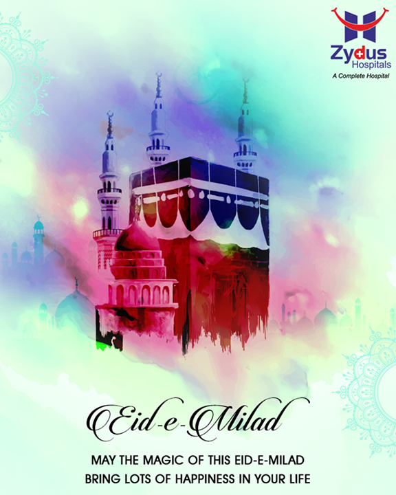 May the magic of this #EidEMilad bring lots of happiness in your life.  #EidMubarak #ZydusHospitals #ZydusCare #StayHealthy #Ahmedabad