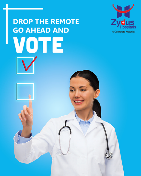 Drop the Remote Go Ahead and Vote!  #Gujarat #GujaratElection #GujaratElection2017 #Vote #ZydusHospitals #ZydusCare #StayHealthy #Ahmedabad