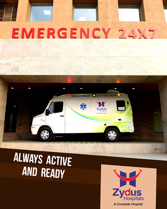 Our Ambulance is fully equipped with all emergency equipments and a fully trained staff and is accompanied by an ED physician as and when in need!     #ZydusHospitals #ZydusCare #StayHealthy #Ahmedabad