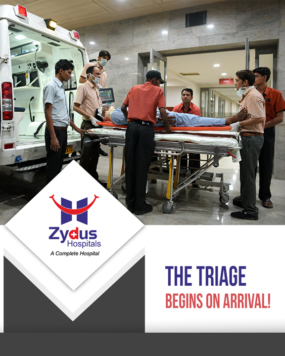 Our staff and the ED doctor triage the patients according to their priority at the arrival itself so that their treatment is not delayed.  #ZydusHospitals #ZydusCare #StayHealthy #Ahmedabad