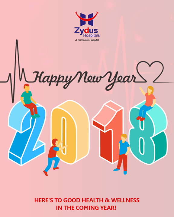 Here's to good health & wellness in the coming year!  #HappyNewYear #NewYear #ByeBye2017 #NewYear2018 #NewYear #Celebrations #ZydusHospitals #ZydusCare #StayHealthy #Ahmedabad