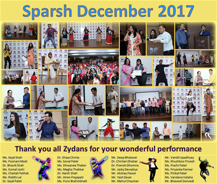 :: Glimpses from the Sparsh December 2017. Thank you all Zydans for your wonderful performance. ::  #ZydusHospitals #ZydusCare #StayHealthy #Ahmedabad