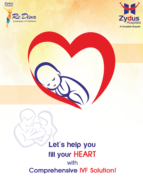 Let's help you fill your heart with comprehensive IVF solution!  #ZydusIVF #IVF #ZydusHospitals #ZydusCare #StayHealthy #Ahmedabad