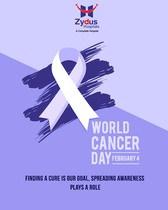 On this #WorldCancerDay let's all raise awareness of cancer and to encourage its prevention, detection, and treatment. Choose healthy lifestyle,Prevention is better than cure.  #CancerAwareness #CancerDay #ZydusHospitals #ZydusCare #StayHealthy #Ahmedabad