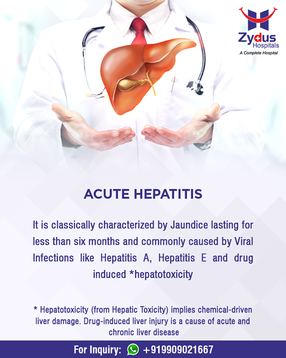 Hepatitis: Let's fight against it.  #LiverCare #Hepatitis #HealthyLiver #HealthyYou #ZydusHospitals #ZydusCare #StayHealthy #Ahmedabad