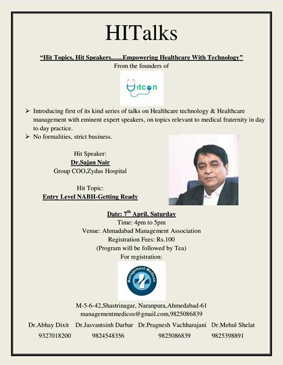 Dr. #SajanNair talks on #healthcaretechnology & #healthcare management!   #ZydusHospitals #StayHealthy #Ahmedabad #GoodHealth