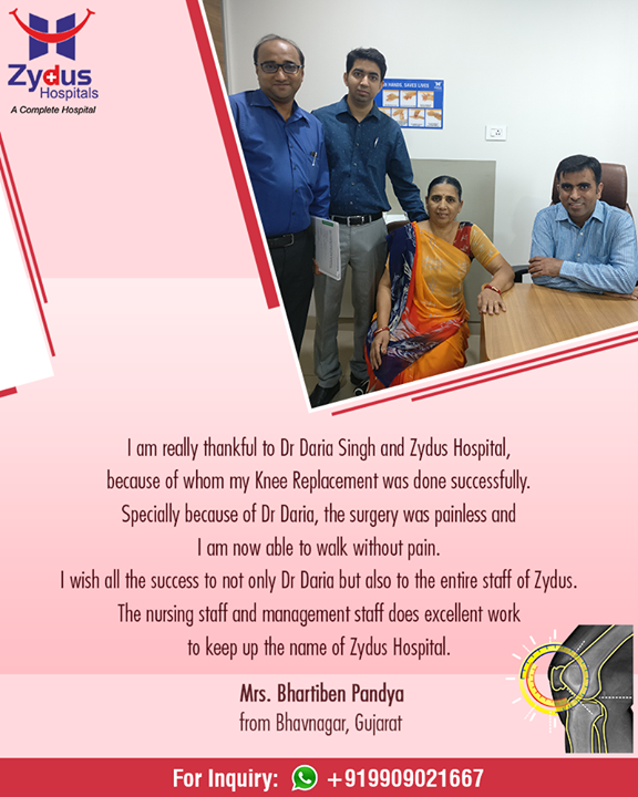 Our patients' content is our best reward!   #PatientTestimonial #ZydusHospitals #StayHealthy #Ahmedabad #GoodHealth