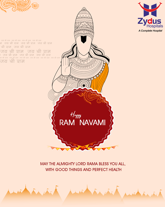 May you be blessed with good health this #RamNavami!  #Ramnavmi #IndianFestivals #JaiShreeRam #ZydusHospitals #Ahmedabad