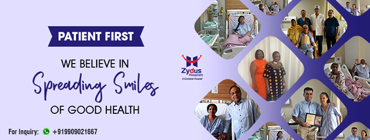 We believe in spreading smiles of Good Health!  #ZydusHospitals #StayHealthy #Ahmedabad #GoodHealth
