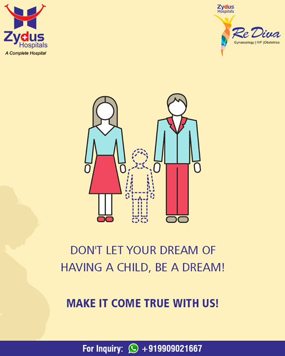 Don't let your dream of having a child, be a dream! Make it come true with us!  #ZydusIVF #IVF #ZydusHospitals #ZydusCare #StayHealthy #Ahmedabad