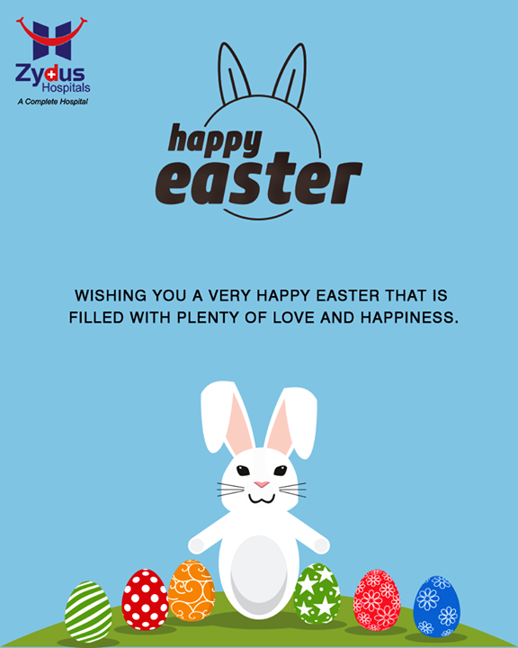 Wishing you a very #HappyEaster that is filled with plenty of love and happiness.  #Easter #ZydusHospitals #ZydusCare #StayHealthy #Ahmedabad