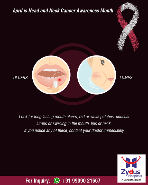 Oral cancer is nearly 2 times more common in males as compared to females.  #HeadAndNeckCancerAwarenessMonth #HeadAndNeckCancer #ZydusHospitals #StayHealthy #Ahmedabad #GoodHealth