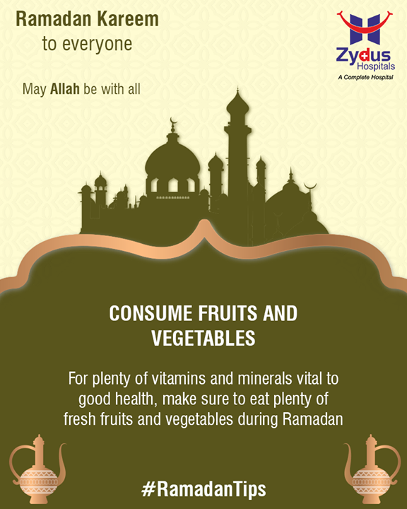 #RamadanTips to keep you healthy during this holy month!  #RamazanMubarak #ZydusHospitals #StayHealthy #Ahmedabad #GoodHealth