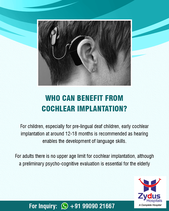 Cochlear implants have been shown to improve the quality of life for thousands of people around the world.  #Cochlear #Implant #ENT #ZydusHospitals #StayHealthy #Ahmedabad #GoodHealth