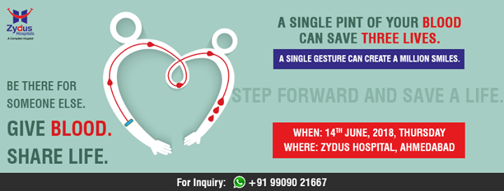#DonateBlood #BloodDonation #WorldBloodDonorDay #ZydusHospitals #StayHealthy #Ahmedabad #GoodHealth