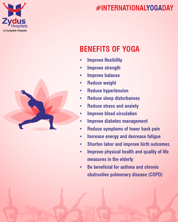Make yoga part of your lifestyle this Yoga Day    #YogaDay #YogaDay2018 #InternationalYogaDay #ZydusHospitals #StayHealthy #Ahmedabad #GoodHealth