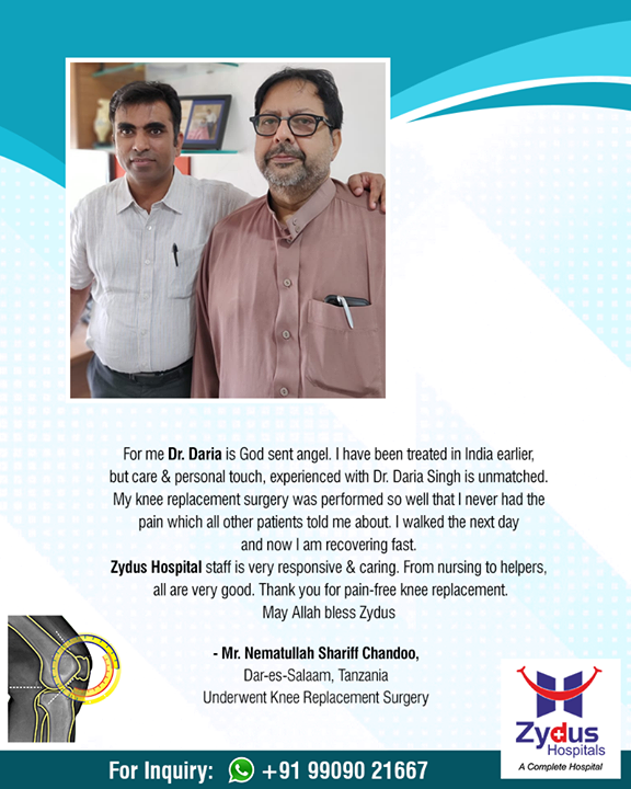 We believe in spreading smiles of Good Health!  #RealPeopleRealStories #ZydusHospitals #StayHealthy #Ahmedabad #GoodHealth #PatientTestimonials #Testimonials