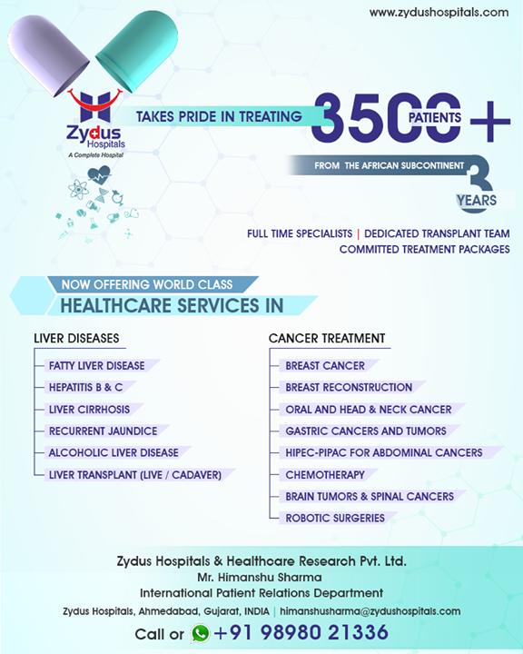 We take pride in treating 3500+ patients!   #ZydusHospitals #StayHealthy #Ahmedabad #GoodHealth