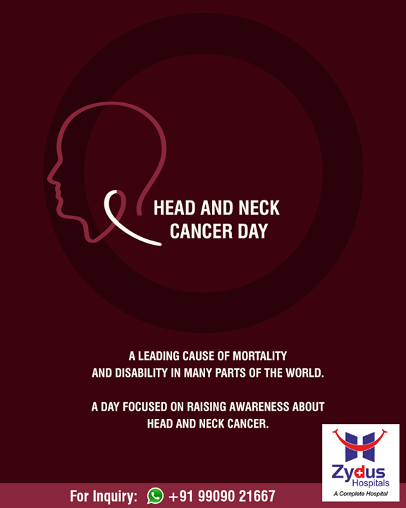 A day dedicated to raise awareness on Head and Neck Cancer!  #HeadNeckCancerDay #ZydusHospitals #Gujarat #Ahmedabad