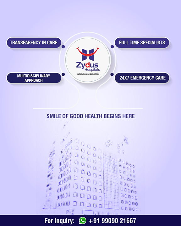 The smile of #goodhealth begins here!  #ZydusHospitals #StayHealthy #Ahmedabad #GoodHealthGujarat