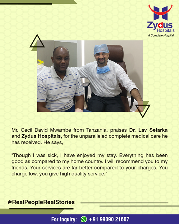 We are happy to spread the smiles of good health at Zydus Hospitals!  #RealPeopleRealStories #ZydusHospitals #StayHealthy #Ahmedabad #GoodHealth