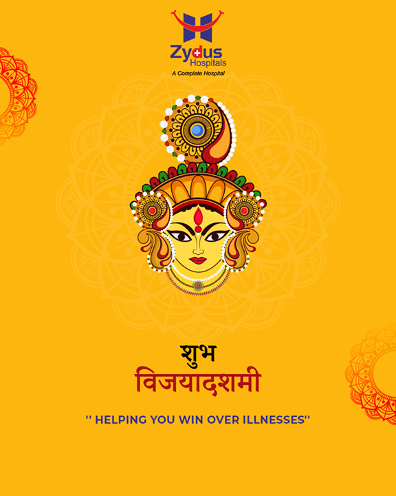 Helping you win over illnesses! Warm festive wishes from Zydus Hospitals!  #ZydusCares #ZydusHospitals #Ahmedabad #Gujarat #VijayaDashmi