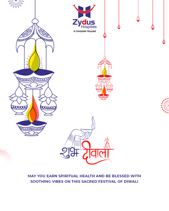 May you earn spiritual health & be blessed with soothing vibes on this sacred festival of Diwali!   #HappyDiwali #IndianFestivals #Celebration #Diwali #Diwali2018 #FestivalOfLight #DiwaliIsHere #FestivalOfJoy #ZydusHospitals #StayHealthy #Ahmedabad #GoodHealth