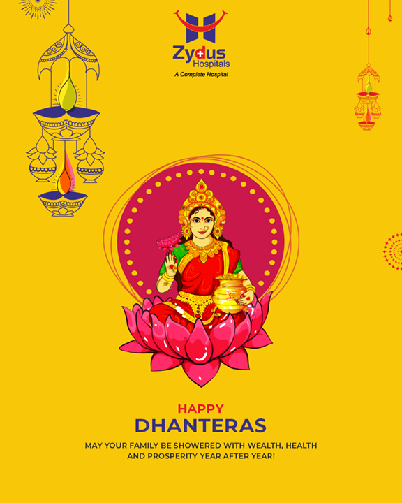 May your family be showered with wealth, health and prosperity year after year!  #Dhanteras #Dhanteras2018 #ShubhDhanteras #IndianFestivals #DiwaliIsHere #Celebration #HappyDhanteras #FestiveSeason #ZydusHospitals #StayHealthy #Ahmedabad #GoodHealth