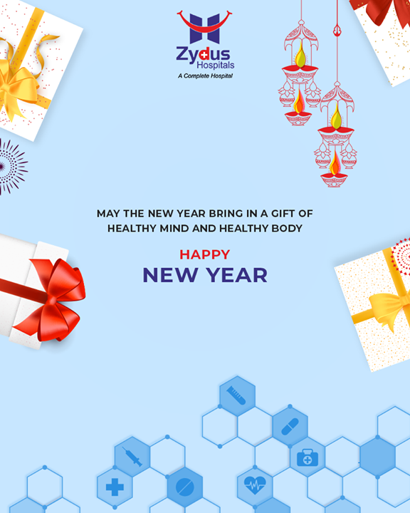 May the new year bring in a gift of a healthy mind & healthy body!  #FestiveSeason #ZydusHospitals #StayHealthy #Ahmedabad #GoodHealth #NewYear #HappyNewYear #IndianFestivals #Celebration #Diwali2018 #SaalMubarak #FestivalOfLight #FestivalOfJoy #FestiveSeason