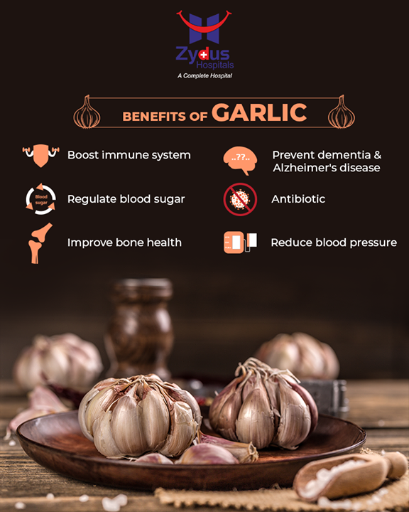 :: Health Benefits of Garlic::  #HealthBenefits #Garlic #ZydusHospitals #StayHealthy #Ahmedabad #GoodHealth