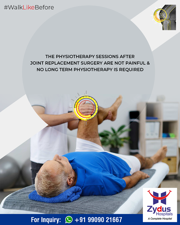 Say hello to #painfree physiotherapy sessions after the surgery!  #WalkLikeBefore #TrueAlign #KneeReplacements #ZydusHospitals #Ahmedabad #Gujarat